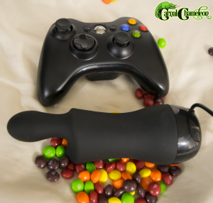 Doxy Skittle and Xbox 360 controller.